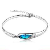 Harga Wanita Gelang Kristal Berlian Imitasi Desain Wrist Chain Perhiasan Bohemian Gelang Punk Gelang Fullset Murah