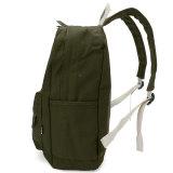 Jual Women Canvas Backpack Sch**l Men Travel Rucksack Laptop Bahu Hijau Tentara Oem Asli