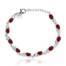 Wanita Desain Klasik Gelang Berlapis Perak Pabrik Gelang Fashion Gelang Charm Bracelet Cicret Gelang untuk Wanita-Intl
