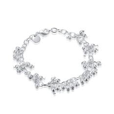 Wanita Desain Klasik Gelang Berlapis Perak Fashion Gelang Charm Bracelet Cicret Gelang untuk Wanita Gelang Pintar-Intl