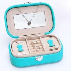 Wanita Telinga Cincin Kalung Perhiasan Gelang Kulit Perhiasan Kotak Perhiasan Modis Layar Penyimpanan Kemasan Kotak Penyimpanan Hadiah 15X10X5 Cm-Internasional