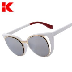 Pusat Jual Beli Wanita Fashion Cat Eye Sunglasses Merek Desain Retro Pierced Wanita Sun Glasses Oculos De Sol Feminino Uv400 Tiongkok