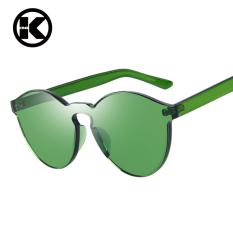 Beli Wanita Fashion Sunglasses Mata Kucing Warna Merek Mewah Desain Berjemur Kacamata Terintegrasi Eyewear Permen Warna Uv400 Di Tiongkok