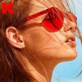 Harga Wanita Fashion Sunglasses Mata Kucing Warna Merek Mewah Desain Berjemur Kacamata Terintegrasi Eyewear Permen Warna Uv403 Intl Yang Murah Dan Bagus