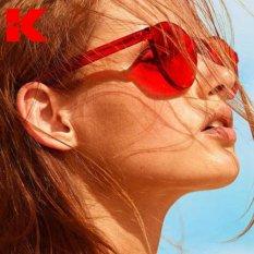 Beli Wanita Fashion Sunglasses Mata Kucing Warna Merek Mewah Desain Berjemur Kacamata Terintegrasi Eyewear Permen Warna Uv403 Intl Online Tiongkok