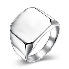 Wanita Fashion Titanium Steel Ring Sliver Intl Terbaru