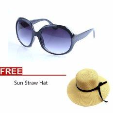 Beli Wanita Girls Sun Kacamata Big Lens Sunglasses Sun Straw Hat Intl Murah