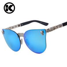 Promo Wanita Gothic Sunglasses Pria Tengkorak Bingkai Metal Temple Sunglasses Oculos De Sol Uv400 Intl