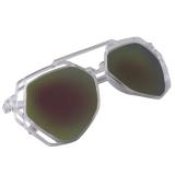 Spesifikasi Women Irregular Sunglasses Full Frame Mn5012 Silver Yg Baik