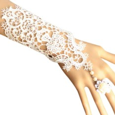 Jual Beli Women Lace Gloves Bracelet With Rings Wedding Bridal Bride Jewelry Accessories Intl Di Tiongkok