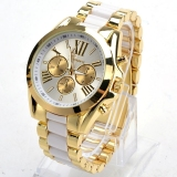 Jual Cepat Wanita Ladies Quartz Full Steel Watch Pakaian Pria Luxury Wrist Watch Putih