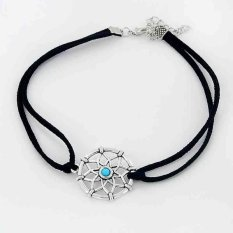 Wanita Lady Girls mini Kecil Dream Catcher Pendek Tali Suepe Kalung Hadiah Nya-Intl