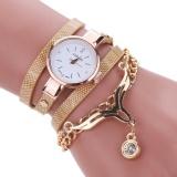 Spesifikasi Wanita Kulit Rhinestone Og Quartz Wrist Watch Emas Yang Bagus