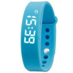 Beli Wanita Led Olahraga Gelang 3D Pedometer Kesehatan Monitoring Smart Digital Watch Kualitas Tidur Pemantauan Suhu Smart Watch Biru Intl Lengkap