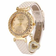 Wanita Cinta Diamond Fashion Desain Ladies Watch Putih