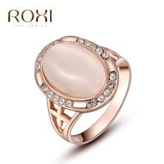Wanita Mewah Korea Gold Selling Tren Lonjong Batu Mata Kucing Berlian Cincin Retro Perhiasan Zirkon Cincin Asli Ornamen modis Klasik Pernikahan Cincin Pertunangan Kado Kualitas Terbaik Perhiasan-Internasional