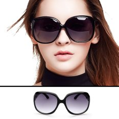 Women Oversized Round Sunglasses MN2544 BLK - Kacamata Wanita