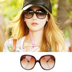 Women Oversized Round Sunglasses MN2544 BRW - Kacamata Wanita