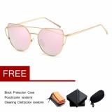Jual Beli Wanita Retro Bingkai Logam Cermin Sunglasses Besar Mata Kucing Kacamata Internasional Baru Tiongkok