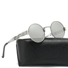 Wanita Kacamata Bundar Retro Unisex Mode Cermin Pilot Lensa Kacamata Perjalanan Saya-Internasional