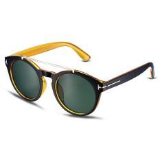 Wanita Round Bentuk Retro Bingkai Logam Anti-UV Sunglasses dengan Kacamata Box-Intl