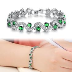 Toko Women Safir Perhiasan Gelang Pulseiras Fashion Dibuat Gemstone Perhiasan Blue Crystal Bracelet Bangles Hadiah Intl Di Tiongkok
