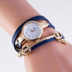 Harga Wanita Panas Musim Gaya Leather Casual Metal Bracelet Watch Wristwatch Dress Hadiah Lengkap