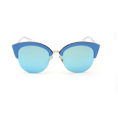 Women Sunglasses Mirror Oval Sun Glasses Blue Color Brand Design Mbulon Diskon 30