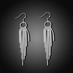 Wanita Willow Twig 925 Silver Plating Anting
