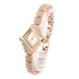 Jual Wanita Diamond Quartz Gelang Desain Fashion Wanita Jam Tangan Putih Satu Set