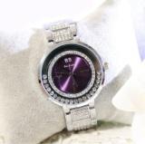 Harga Wanita Fashion Circular Watch Austria Diamond Paduan Jam Quartz Internasional Terbaik