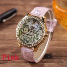 Top 10 Kartun Wanita Owl Watch G*rl S Casual Pu Leather Dress Watches Pointer Pink Intl Online