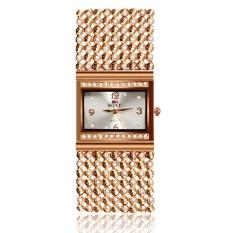 Women's Chain Square Rose Gold Watch Quartz Watch