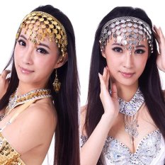 Wanitas Costume Menari Sequins Hair Band Belly Dance Aksesoris (emas)-Intl By La Vie Store.