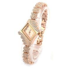 Beli Wanita Diamond Quartz Gelang Desain Fashion Wanita Jam Tangan Emas Oem