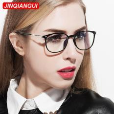 Eyewear Wanita Fashion Oval Kacamata Hitam Bingkai Kacamata Polos untuk Miopia Wanita Kacamata Optik Kacamata Oculos