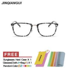 Cara Beli Eyewear Wanita Fashion Rectangle Kacamata Blackwhite Bingkai Kacamata Polos Untuk Miopia Wanita Kacamata Optik Kacamata Oculos Femininos Gafas Intl