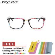 Wanita Kacamata Fashion Kacamata Persegi Panjang Bingkai Warna-warni Kacamata Polos untuk Miopia Wanita Bingkai