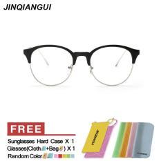 Spesifikasi Jinqiangui Kacamata Bingkai Wanita Mata Kucing Kacamata Hitam Hapus Lensa Fashion Dan Harganya