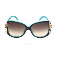 Womens Fashion Super Anti UV Sunglasses for Shopping for Outdoors(Blue) - intl