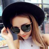 Cewek Kacamata Hitam Wanita UV400 Vintage Retro Bingkai Logam Perlindungan  Hitam Bingkai  cbd1836991