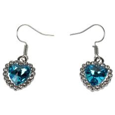 Jantung Wanita Anting Kuku Laut Dangle Earrings Biru