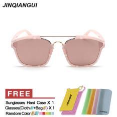 Review Toko Wanita Sunglasses Wanita Square Sun Glasses Rosegold Warna Desain Merek Online