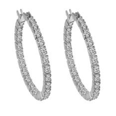Kekuatan Luar Biasa Produk Panas Kristal Berlian Busur Bend Cinta Pernikahan Pecinta Perhiasan Stud Anting-Anting untuk Pengantin Wanita Indah Wanita 925 Sterling Perak Anting-Perak-Satu Ukuran-Internasional