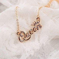 Kekuatan Luar Biasa Baru Populer Perhiasan Sweater Kalung Cari Secara Ratu Berlian Imitasi Pendek Kalung Wanita Rantai Klavikula-Gold-Satu Ukuran -Internasional