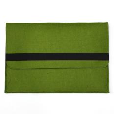 Beli Wool Felt Envelope Laptop Sleeve Case Cover Bag For Apple Macbook Air 11 Inch Green Online Murah