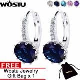 Perbandingan Harga Wostu Indonesian Trendy Style 5 Colors Special Round Hoop Earrings For Women With 1Cm Aaa Zircon Fashion Earrings Jewelry Gift Zbfe083 Wostu Di Tiongkok