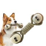 Review Woven Dumbbell Rope Dog Pet Chew Mainan Anjing Bersih Gigi Pelatihan Alat Intl Di Tiongkok