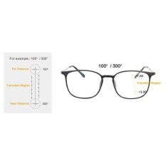 WSmall Tr90/Logam Kacamata Ringan Progresif Multifocus Reading Glasses (UP 100 Turun 300)-Sh022-Intl