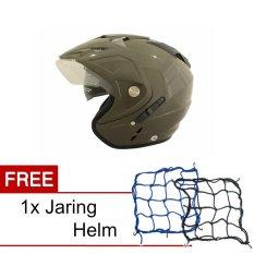 Jual Beli Wto Helmet Impressive Hijau Tua Promo Gratis Jaring Helm Banten